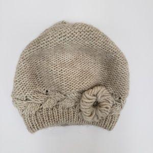 Lorenzo wool blend beret beanie new